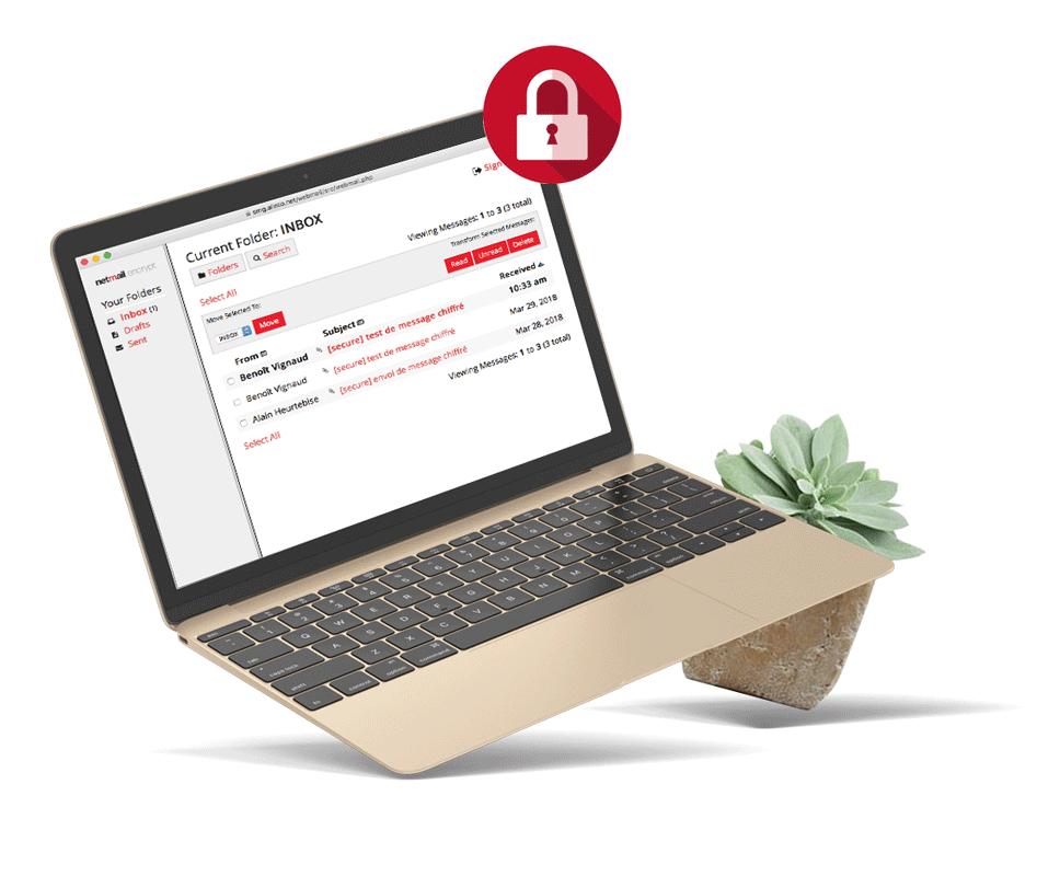 Netmail Encrypt et DLP, chiffrement et prévention des fuites de données