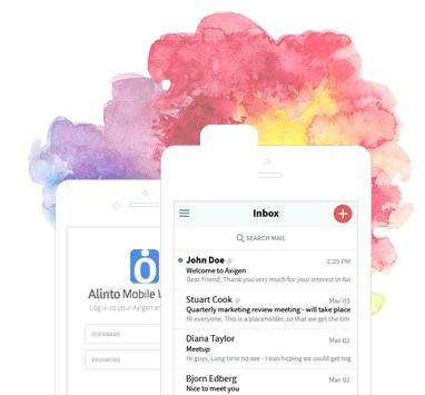 Interface de la messagerie cloud Alinto Pro